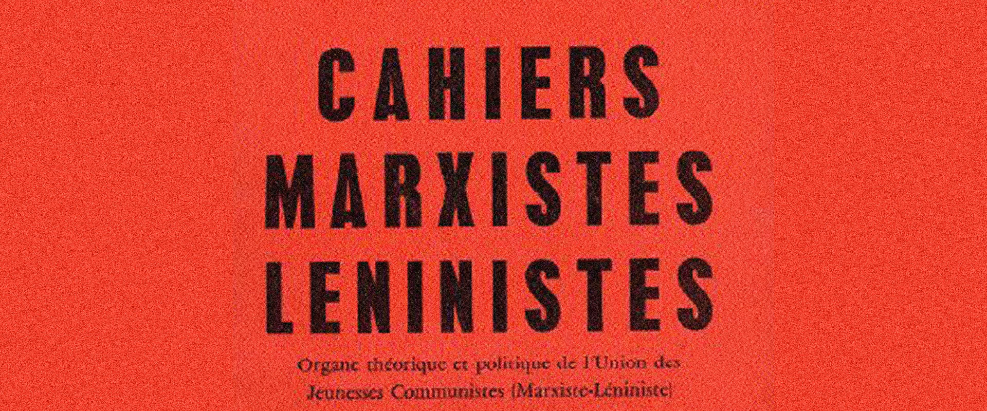 Cahiers Marxistes